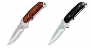 Two Different Handle Types for the Buck 277 folding alpha hunter