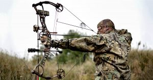 Bow hunter weraing camo clothing washed with scent free detergent