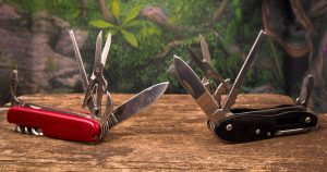 Two knives are better than one on backpacking trips