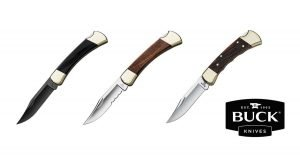 Your Guide to Buck Knives 110 Knife Handles including cherry wood and American Oak