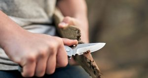 Buck Knives Folding Alpha Hunter Knife Blade Construction
