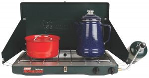 The Coleman classic two burner camp stove is popular for good reason.